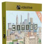 快速简单完美的城市动画创建工具包AE模板 Videohive Cities Animation 10253102