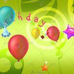 3组卡通生日气球动画视频素材