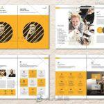 2018年企业干净的年度报告手册indesign排版模板