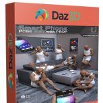 男子与智能手机姿势3D模型合辑