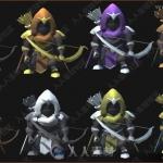 风格化低模弓箭手动画与模型Unity游戏素材资源