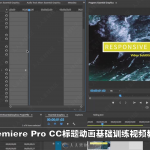 Premiere Pro CC标题动画基础训练视频教程