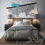 3dsky床具床品3D模型合集