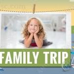 温馨家庭旅行卡通风格相册动画AE模版
