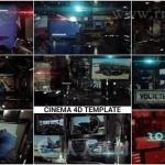 高科技重金属风格片头动画C4D与AE模版