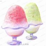 日式各种手绘美食彩图原画插画