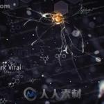 超酷黑暗病毒粒子药素结构标题动画AE模版