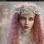 多种颜色花环波浪发型女神妆容3D模型