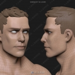 Zbrush超级英雄男性角色雕刻3D模型