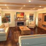 温馨暖色系家庭室内强光弱光环境3D模型