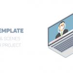 企业商务现代化人物演示动画图形元素AE模版