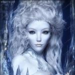 冰雪皮肤冷艳女王科幻角色3D模型