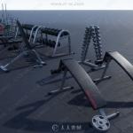 健身健美器材器械3D模型合集