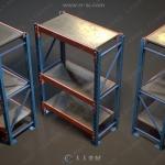 仓库储存设备设施货架机架3D模型合集