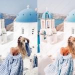 蓝色主题爱琴海旅行冷暖色调Lightroom预设