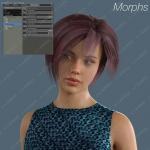 蓬松感漂染多种短发女孩发色3D模型