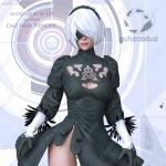 尼尔机械2B小姐姐精细服装造型3D模型