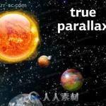 超真实视差效果天体星球粒子系统Unity游戏素材资源
