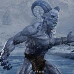 凶猛冰原牛角史前怪兽3D模型