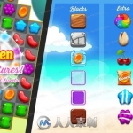 彩色水果糖果小图标关卡游戏整体项目Unity游戏素材资源