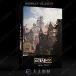 超精细完整王国城池村庄庄园建筑场景3D模型合集