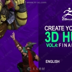 ZBrush风行者兽人等游戏角色雕刻制作大师级视频教程