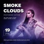 19种彩色烟雾粒子颗粒艺术特效PS动作