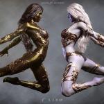 Fantasy Skins超经典人物造型皮肤设计3D模型合集