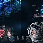 数字粒子特效商业宣传动画AE模板