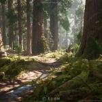 红杉树森林场景环境UE4游戏素材资源