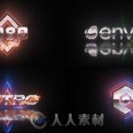 超酷80年代复古闪电Logo演绎动画AE模板
