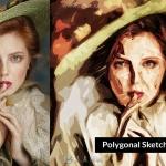 肖像笔触彩绘风格艺术特效PS动作