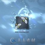 水滴飞溅艺术特效Logo演绎动画AE模板
