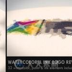 彩色墨迹显现艺术特效Logo演绎动画AE模板
