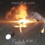 科幻炮台与粒子特效Unity游戏素材资源