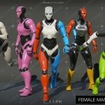 女性骨骼动画UE4游戏素材资源