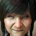 老女人老太太各种形象造型3D模型合集