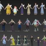 日本动漫游戏 海贼王角色模型合集
