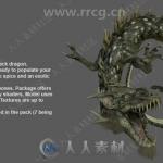 传说级怪兽与装备等3D模型Unity游戏素材资源