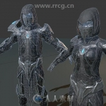 暗黑术士角色模型Unity游戏素材资源
