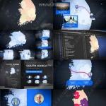 韩国地图动画特效控制套件AE模板