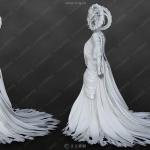 龙女皇超精致完整角色3D模型合集
