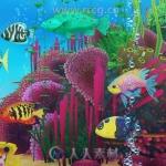 五颜六色海洋鱼类低模Unity游戏素材资源