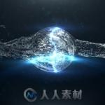 水球能量冲击Logo演绎动画AE模板