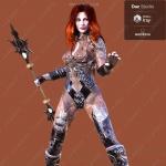 铿锵女战士战斗服饰武器3D模型合集
