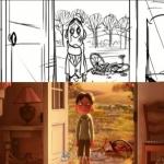 影片《美食总动员》分镜制作解析视频 柯博先生回忆片段的分镜头展示