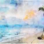 唯美照片水彩画风格艺术特效PS动作