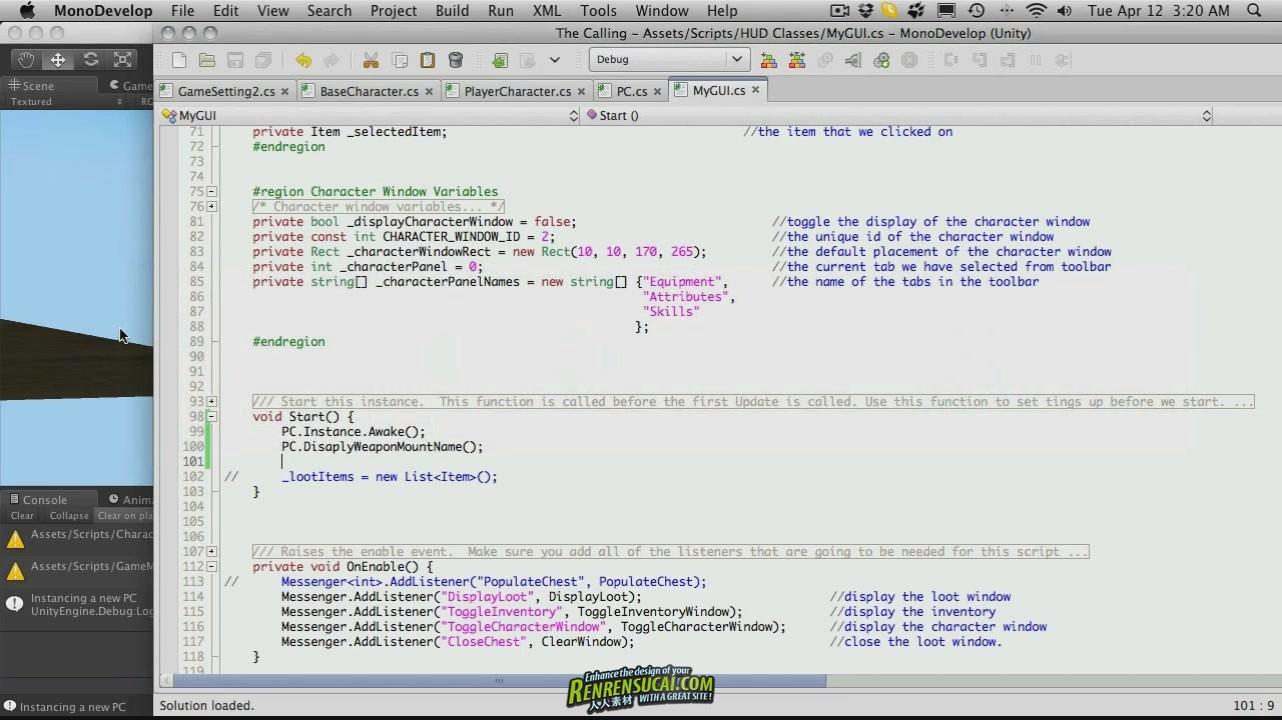 《UDK引擎制作大型RPG游戏教程205例》Hack & Slash RPG A Unity3D Game Engine Tutorial