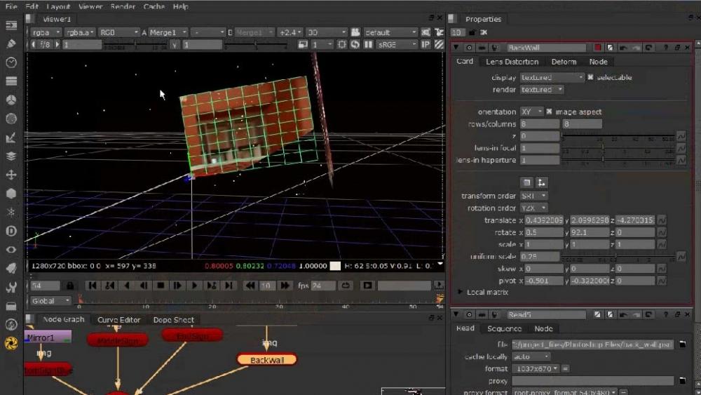 《NUKE摄像机投影技术教程》Digital-Tutors Removing Objects with Camera Projection in NUKE