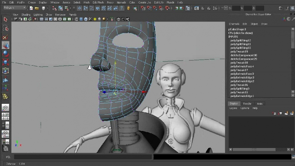 《Maya2012女机械人建模教程》Digital-Tutors Modeling Female Androids in Maya 2012